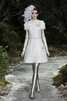 Inspiration. Flower pots and the wizard of Oz tin man  Chanel - Haute Couture - Spring 2013