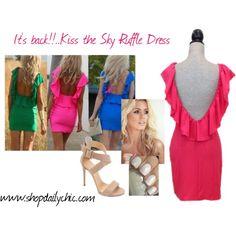 """Kiss the Sky Ruffle Dress"" by shopdailychic"