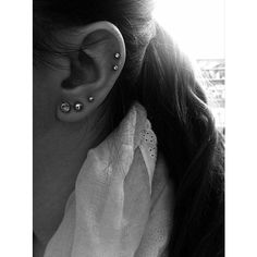 30 Cute and Different Ear Piercings ❤ liked on Polyvore featuring jewelry and earrings