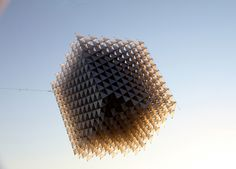 """3D-Printed """"Little Shining Man"""" Kite by Heather and Ivan Morison is a Stunning Kinetic Sculpture 