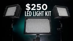Liked on YouTube: $250 LED Video Lighting Kit