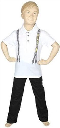 Calvin Klein Boys Jeans 2 Piece Shirt and Pants Set Suspenders Sizes 4, 5 or 6 #CalvinKlein #DressyEverydayHoliday
