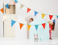 Engel gorgeous accessories for childrens rooms and parties. Gorgeous fabric bunting for kids