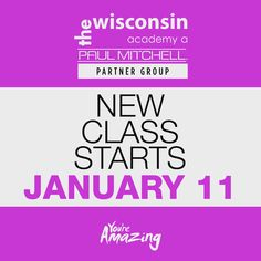 Hello everyone!! Our next start date is January 11, 2016!!!!! What better way to start the new year then starting it with a new career!!! Give the school a call today to set up a tour and a free wash house at 715-582-4104, or text us at 715-330-4809!!! It's never to late to join our family!!!