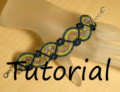 Beaded Macrame Bracelet Waves of Blue and Green by KnotJustMacrame
