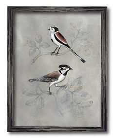 Take a look at this Brown & White Bird Framed Wall Art today!