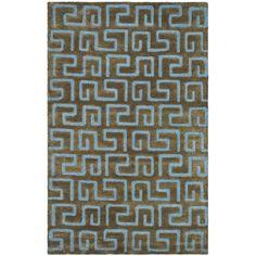 Safavieh Handmade Puzzles Brown/ Blue New Zealand Wool Rug (8'3 x 11')