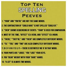 What are common pet peeves?