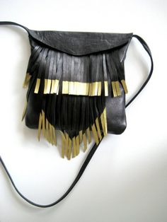 Gold and black purse