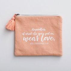 Wear Love - Canvas Pouch | DaySpring