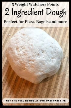 2 ingredient dough is perfect for anyone on Weight Watchers. This two ingredient dough is versatile and can be used with many recipes, including breadsticks and Weight Watchers pepperoni pizza (links to both recipes included) 2 Ingredient Pizza Dough, 2 Ingredient Recipes, Ww Recipes, Cooking Recipes, Healthy Recipes, Recipies, Pizza Recipes, Bread Recipes, Dinner Recipes