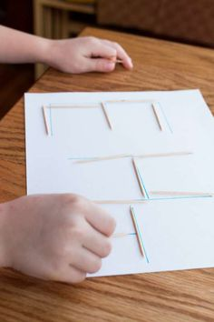 Tracing Letters & Shapes with Toothpicks via @handsonaswegrow