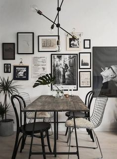 29 Creative Industrial Style Decor Ideas That You Can Create For Your Urban Geta. 29 Creative Industrial Style Decor Ideas That You Can Create For Your Urban Getaway fascinating industrial wall art Wall Decoration Ideas Dining Room Wall Decor, Dining Room Lighting, Dining Room Design, Kitchen Decor, Wire Dining Chairs, Kitchen Ideas, Wooden Kitchen, Dining Tables, Kitchen Designs