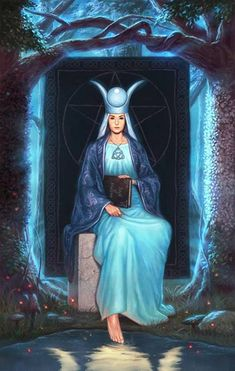 The High Priestess - Silver Witchcraft Tarot