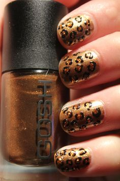 Leapord print - My nails look similar to this right now