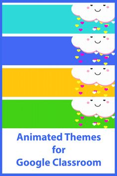 Decorate your Google Classroom with some fun animated gifs! Online Classroom, Classroom Decor, Free Education, Google Classroom, Educational Technology, Headers, Some Fun, Gifs, Weather
