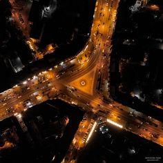 Kiev night, drone photo Sci Fi, Night, Science Fiction