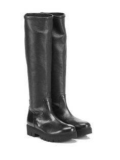 ALBERTO FERMANI - Stivali - Donna - Stivale in pelle martellata e pelle…