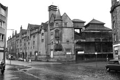 The old St Leonards brewery at the corner of East Crosscauseway and the Pleasance in October 1975.