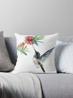 Millions of unique designs by independent artists. Find your thing. Fabric Birds, Fabric Art, Pillow Crafts, Bird Pillow, Stained Glass Panels, Silk Painting, Designer Throw Pillows, Pillow Design, Decoration