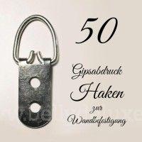 50 Haken für Gipsabdruck Wandbefestigung