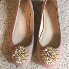 Talbots Pink Suede Flats 7.5 These flats were worn a couple of times and they are in great condition. Talbots Shoes Flats & Loafers