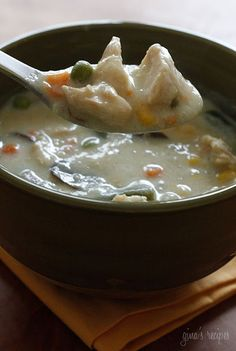 Chicken Pot Pie Soup - If you want to get fancy, you can serve this in hollowed out bread bowls or serve it with cut-out baked pie crust. (I hate peas, I'll leave them out and put in extra carrots)