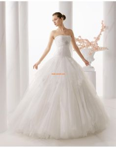Traîne moyenne Tulle Brillant & Séduisant Robes de mariée 2015