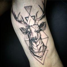 ... boristattooarterba #tattoo #tattooblackandgray #tattooerba #cervo