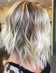 Trendy Hair Color Ideas  2017/ 2018  :  dimensional blonde highlights