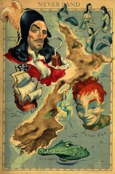 Fernando Vicente. Peter Pan, 100 años de infancia, Babelia, El País, 2002. Acrílico sobre papel. Colección del artista. © Fernando Vicente.