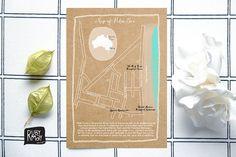 Custom Wedding Map Illustration - digital file or printed, event map, any location, destination wedding, hand drawn map, illustrated map