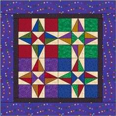 June 2011 Quilt  nine patch star  block of month group