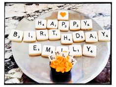 Scrabble cookies and cupcakes!