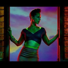 "Still from Alicia's ""Girl on Fire"" music video."