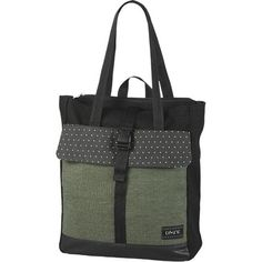 Stow your daily goods in Dakine's Backpack Tote and pull out the shoulder straps when your gear weighs your arm down too much.
