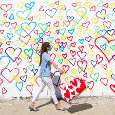 Heart Mural | Atwater Village Intersection of Los Feliz Blvd & Brunswick Ave