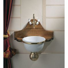 Herbeau 0210 | Rince Doigts finger bowl set- In the days before plumbing & sanitation, bowls like this were often mounted near the entrance of the dining hall so guests could cleanse their fingers before sitting down to eat.