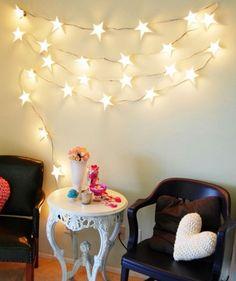 Decoração // Mesa // Mesinha // Cadeiras // Luzes // Estrelas // Cores Preto e Branco // Travesseiros // Coração // Opção para Varandas, Áreas de Lazer, Quintal, Entrada e Outros Ambientes // Romântica // Caprichosa // Fofa // ♥