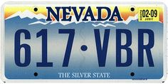 This is the official license plate for the state of Nevada as it has been officially adopted by the state legislature. Also known as a vehicle registration plate, it is used to identify the car and owner of a motor vehicle or trailer in the state.