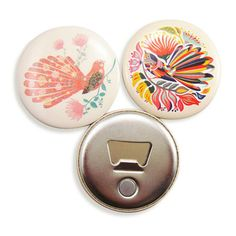 Colorful Printable Customized Magnet Bottle Opener With Button As Gifts