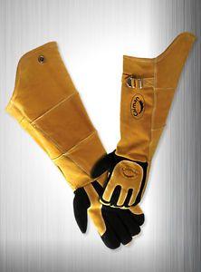 """Caiman 1878 21"""" Welding Gloves Kevlar Sewn Genuine Deer Skin sleeves"""