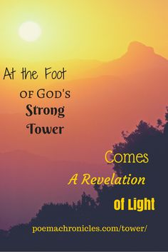 What happens when you run to the Lord's strong tower?