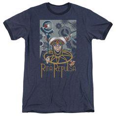Power Rangers - Rita Deco Adult Ringer T- Shirt