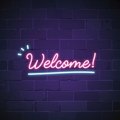Welcome in neon sign vector Free Vector First Youtube Video Ideas, Intro Youtube, Youtube Logo, Youtube Banner Backgrounds, Youtube Banners, Neon Aesthetic, Quote Aesthetic, Logo Online Shop, Neon Open Sign