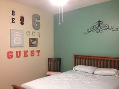 Guest room. Gallery wall