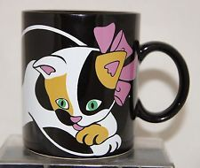 Calico Cat Kitten Coffee Mug Vintage TT CO San Francisco Black Tea Hot Chocolate