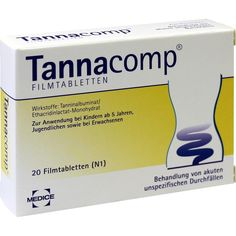 TANNACOMP Filmtabletten bei Durchfall:   Packungsinhalt: 20 St Filmtabletten PZN: 01900332 Hersteller: MEDICE Arzneimittel Pütter…