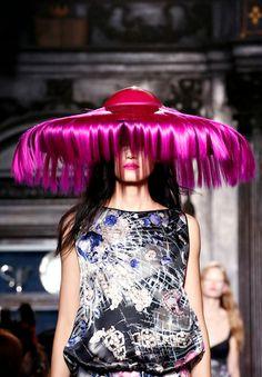 Crazy British Hats | Giles 's huge metallic pink hats were half Dr. Seuss (a look we're ...