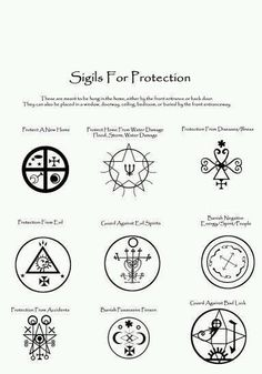 Sigils for protection
